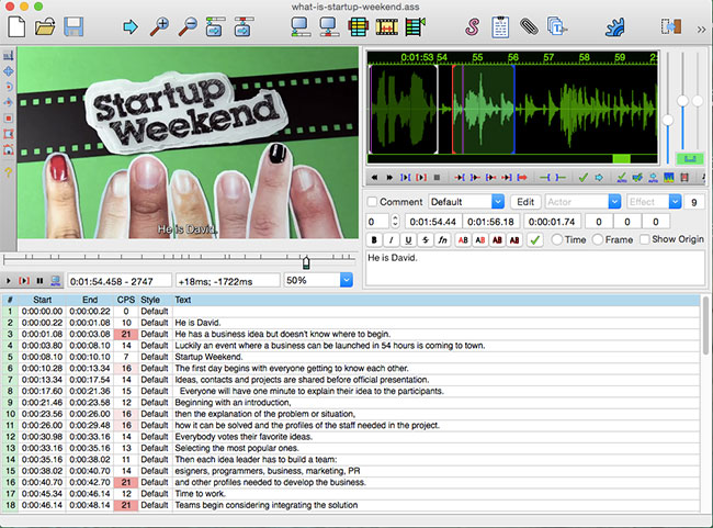 Transcribing and Burning Subtitles to Videos on Mac OS X for