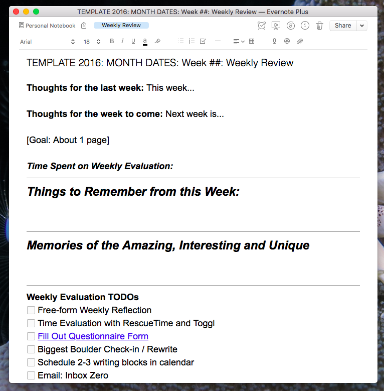 The Power of the Weekly Review: Why and How You Should Do Yours ...
