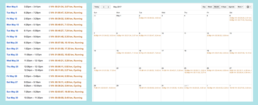 Calendar as a Self-Tracking Tool: How to Visualize Your Life