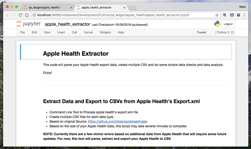 How to Export, Parse and Explore Your Apple Health Data with
