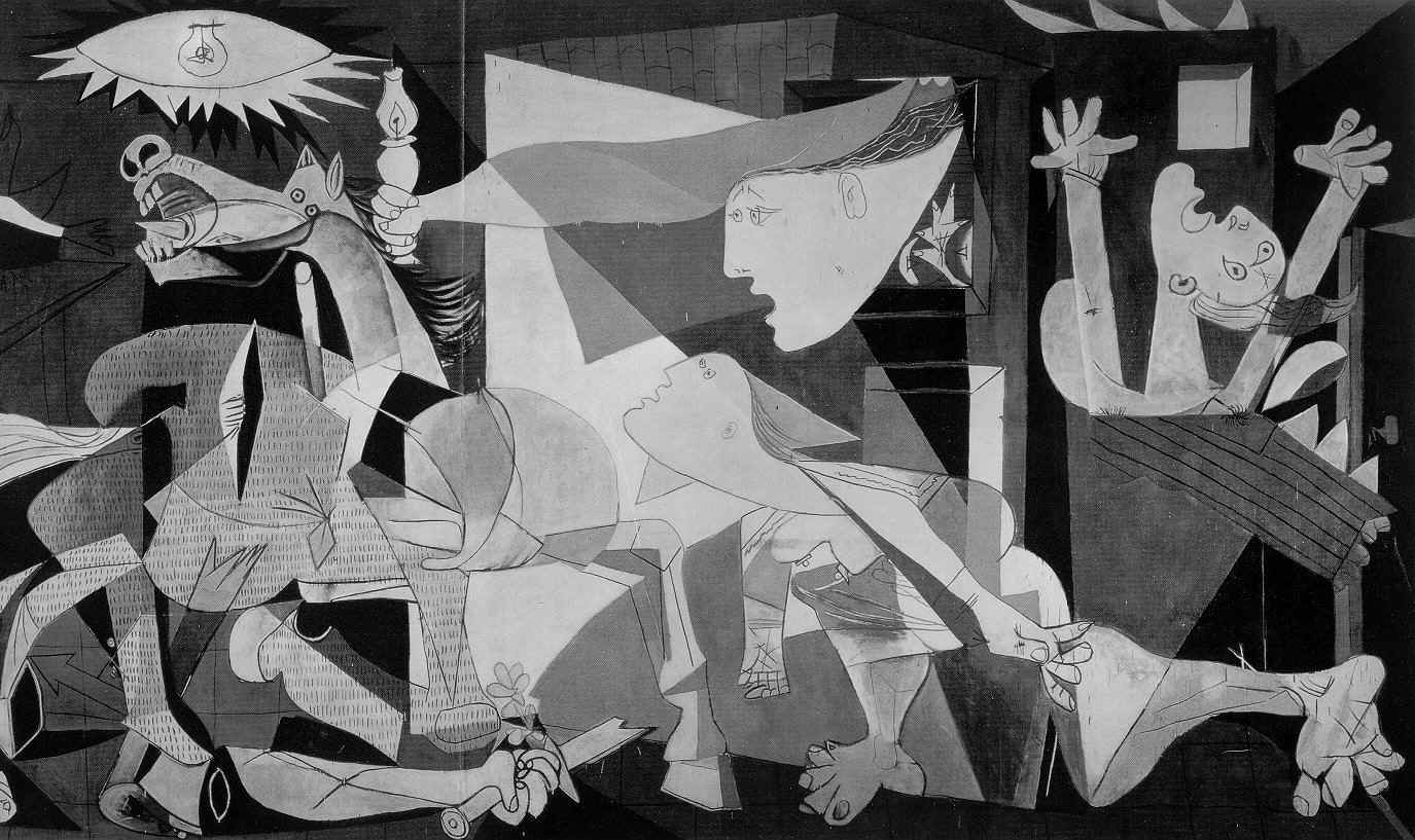 Quino cartoon picasso 39 s guernica guernica historical for Mural guernica