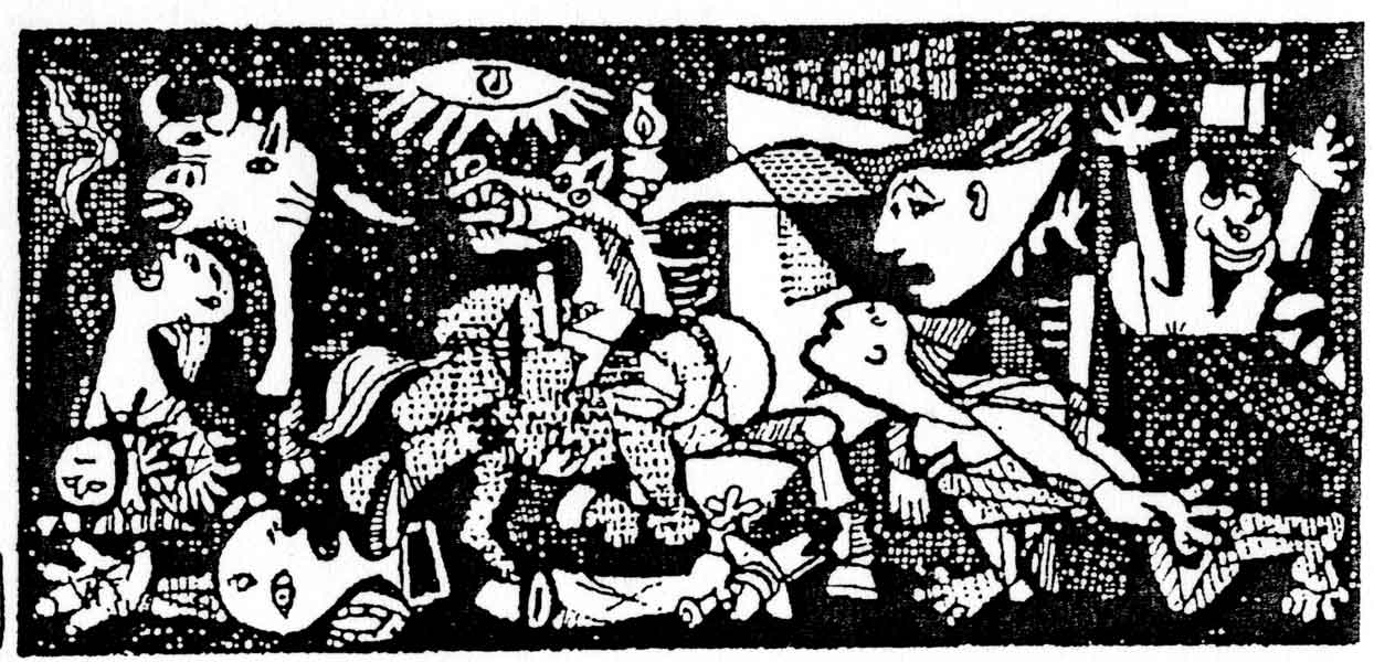 Quino Cartoon Picassos Guernica Guernica Historical Photos